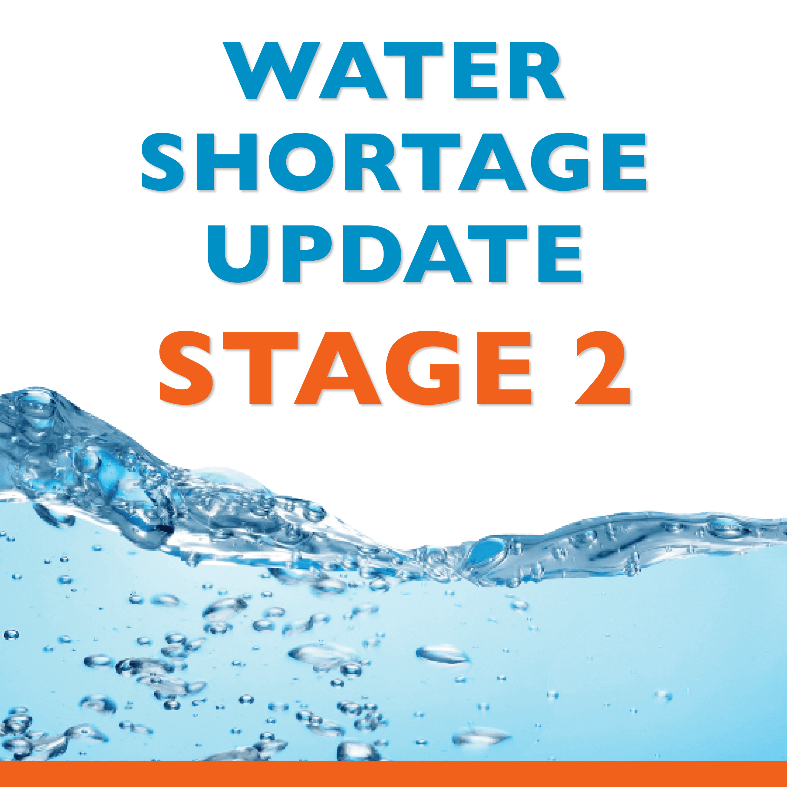 Water Shortage Update