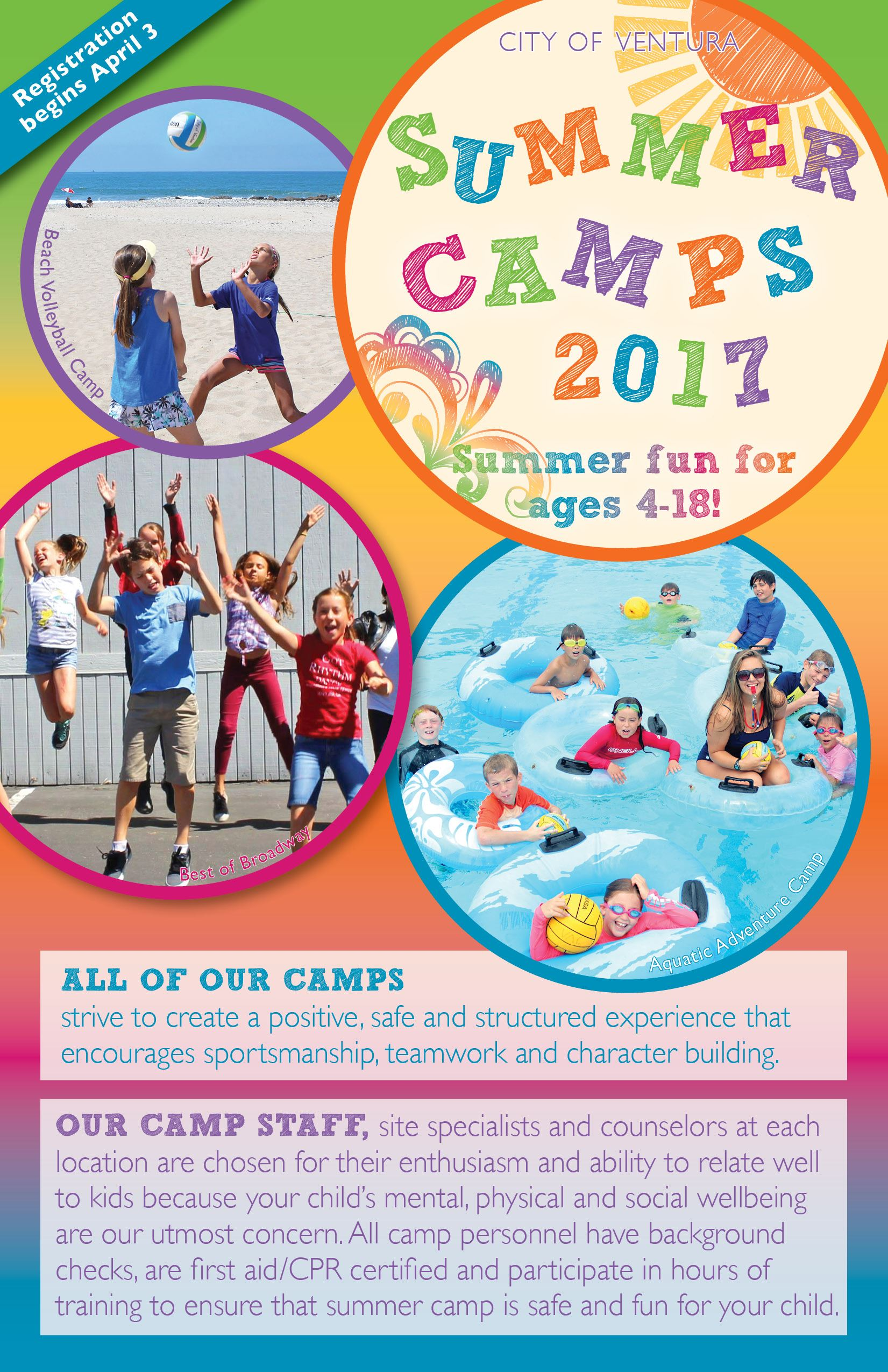 Summer Camps Brochure cover
